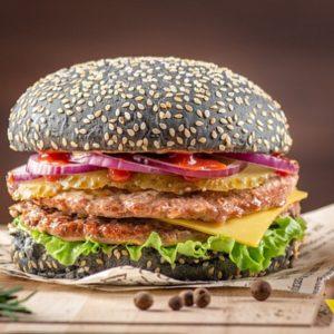 Дабл Блэк PRIME Бургер - Двойной фарш говядины. заказать бургеры с доставкой