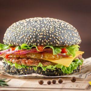 Блэк PRIME Бургер - Фарш из фермерской говядины. заказать бургеры с доставкой